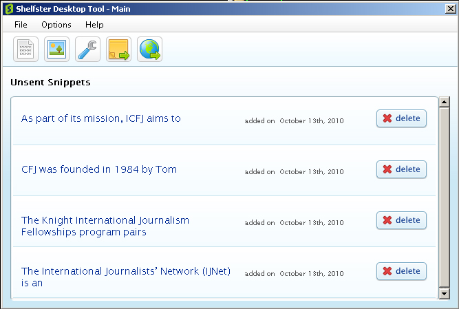 Click to view Shelfster Desktop Tool 1.5.5.0 screenshot